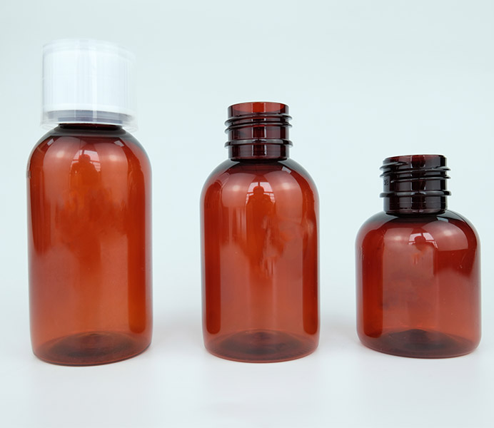 100mL PET Amber Pharma Bottle with for Oral Solution-27100