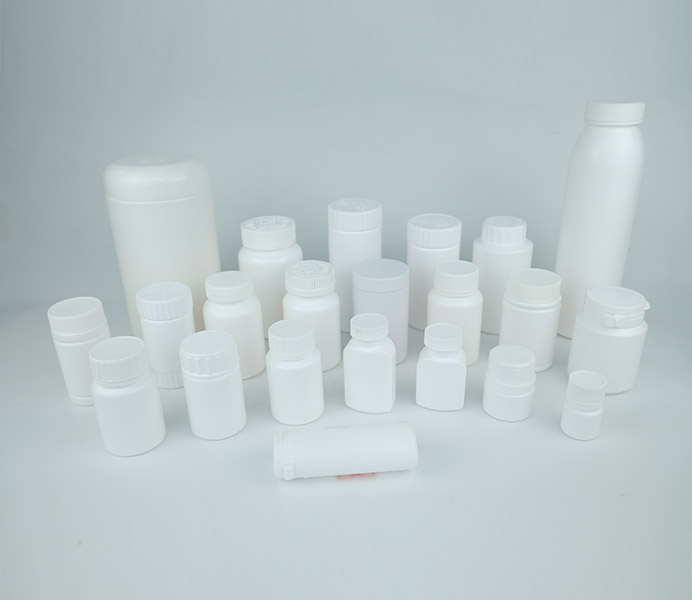 220mL HDPE Double Bodies Pill Bottle-07220