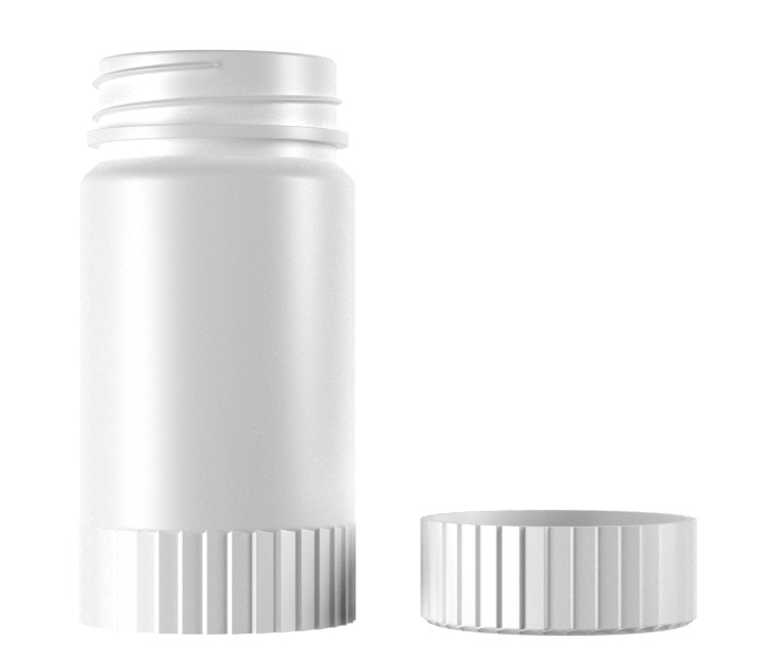 200mL HDPE Double Bodies Pill Bottle-06200