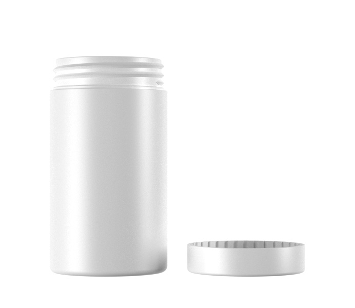 120mL HDPE and PS Tablet Container-46120