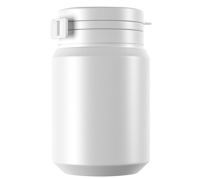 100mL HDPE Gum bottle with Flip Cap-41100