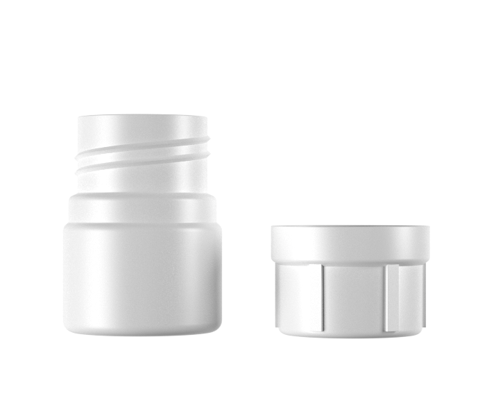 30mL HDPE Round bottle with Child Resistant Cap-22030